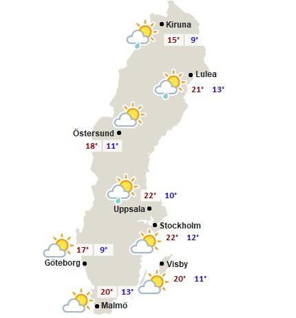 schweden wetter heute
